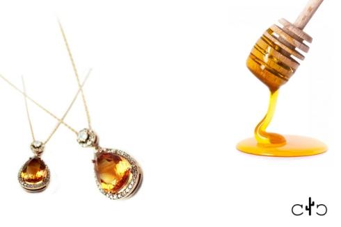 sitrin kolye altın citrine necklace mücevher fotoğrafçılığı ışıltan ırmak