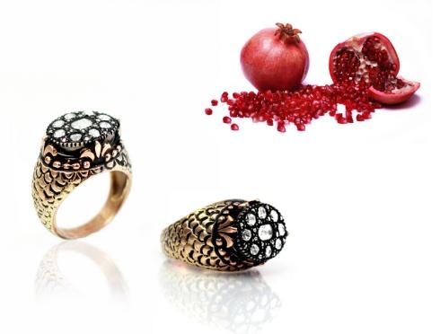 8 ayar altın elmas yüzük nar, bereket, bolluk, kırmızı, altın, elmas, elmas yüzük, doku, şekil, oksit, altın yüzük, yüzük tasarımı